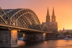 Cologne - Bridge with Cologne Cathedral